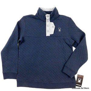 Spyder Diamond Blue Quilted Sweatshirt Boys Size M